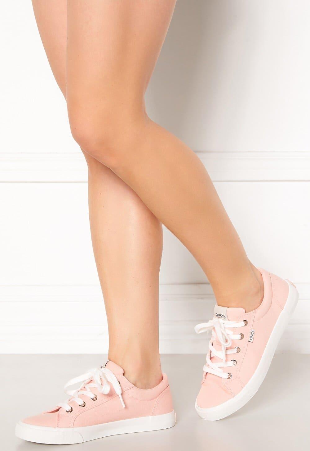 Rosa, tygsneakers i klassisk modell 2021