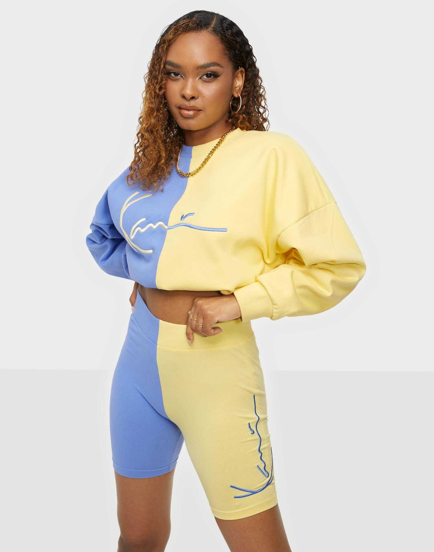 Cykelbyxor i blå och gul för dam 2021