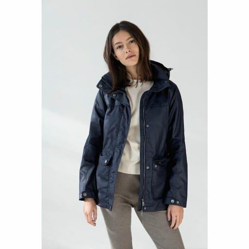 Blå jacka med luva för dam 2021/2022