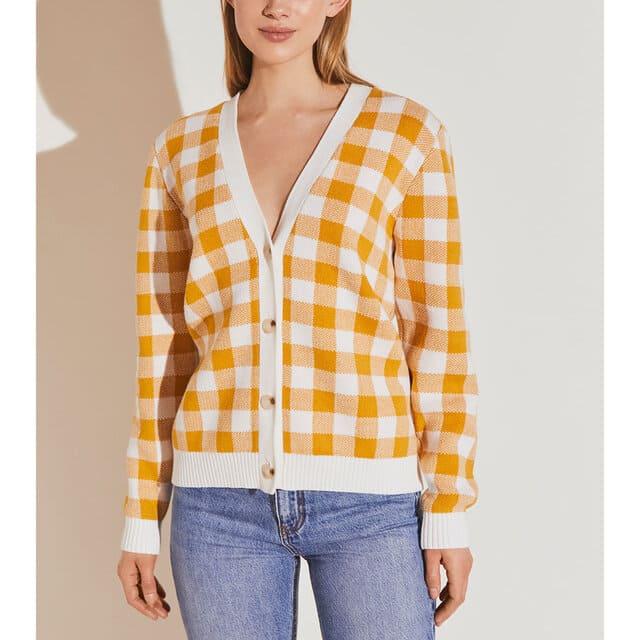 Rutig stickad tröja från By Malina