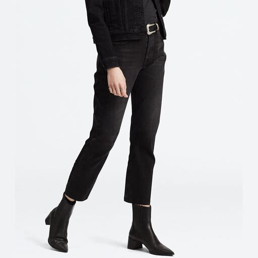 Klassiska korta levis jeans i svart