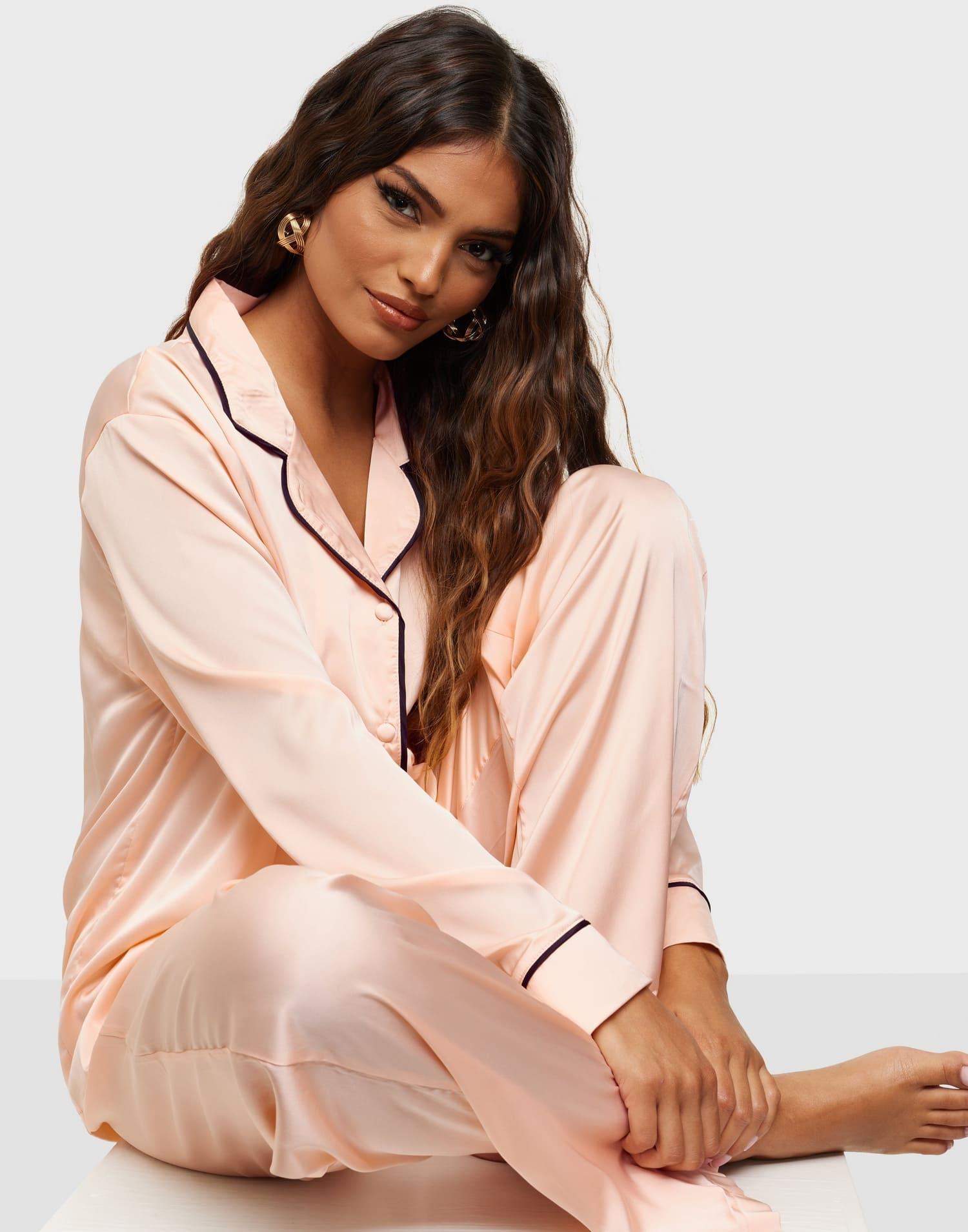 Satin pyjamas för dam