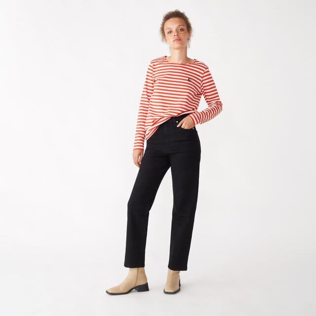 Svarta korta jeans med hög midja
