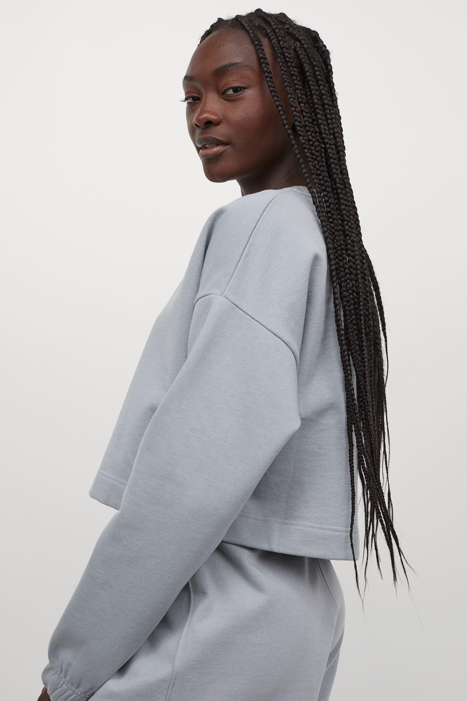 Sweatshirt tröja i bomull för dam