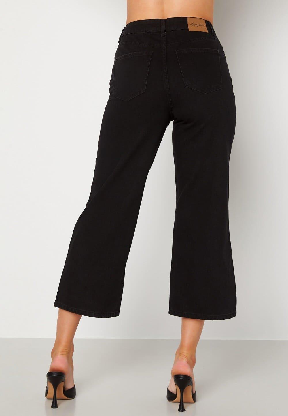 Vida svarta jeans med kort ben