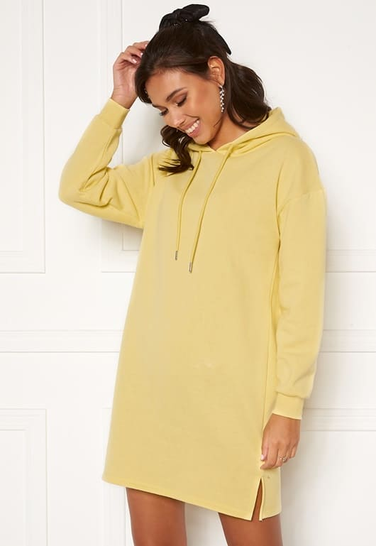 Gul mysdress / hoodie klänning