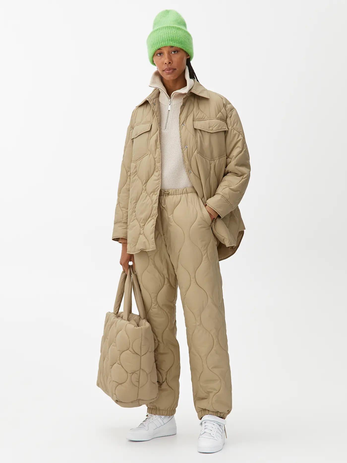 Quiltade byxor för vinter 2021