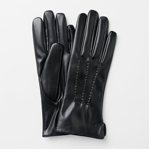 Handskar i läderimitation för dam 2021